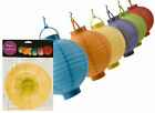 1 OR 6 ASSORTED COLOURS PAPER/CHINESE LANTERNS/ PARTY LANTERN - 20CM/ BATTERY OP