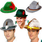 Oktoberfest Hats Adults Fancy Dress Bavarian Festival Ladies Mens Costume Hats