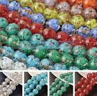 5pcs 14mm Big Round Lampwork Glass DIY Loose Spacer Beads Jewelry Findings
