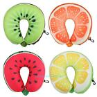 Creative Cartoon Fruit U-Shape Pillow Travel Car Neck Support Headrest Cushion