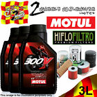 3L MOTUL 300V 15W50 4T OIL AND HIFLO HF303 FILTER FITS KAWASAKI MOTOR CYCLE 1