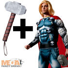 Deluxe Thor + Hammer Mens Fancy Dress Avengers Book Day Superhero Adults Costume
