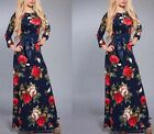 Vintage Kaftan Abaya Islamic Ladies Women Cocktail Maxi Muslim Long Sleeve Dress
