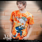 japan anime cosplay ONE PIECE Portgas D. Ace 3D flame print graphic tee【J1Q0068】