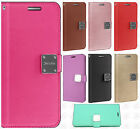 For Samsung Galaxy J7 PRIME Premium Flip Out Pocket Wallet Case Pouch Cover
