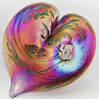 Neo Art Glass pink heart sterling silver frog fairy dragonfly butterfly, KHeaton