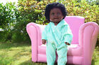 "LARGE 19"" AMERICAN BLACK AFRICAN DOLL BABY CAPRIA GIRLS DOLL 48CM AFRO DOLL"