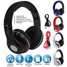 Foldable Bluetooth Hifi Stereo Headphones Handsfree Mic For iPhone iPod Samsung