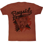 Saved By The Bell 80's Comedy Sitcom Bayside Tigers Logo Orange Adult T-Shirt image