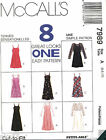 McCall's 7989 Misses Top, Slip-Dress & Dress in Two Lengths Pattern MANY SIZES