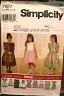 Simplicity 7627 Girls Dress Pattern MANY SIZES OOP VINTAGE