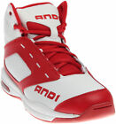 AND1 Typhoon Mid Red;White - Mens  - Size