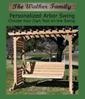 NEW PERSONALIZED COLONIAL ARBOR, 6 FOOT SWING W CUSTOM NAME/PHRASE, HANGING ROPE