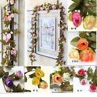 NEW Garland Vintage WEDDING String Bedroom Silk Artificial Flowers Floral Decor