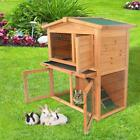 "New 36"" 40"" 48"" Wooden Rabbit Hutch Chicken Coop Hen House Poultry Pet Cage"