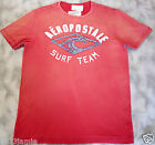 Aeropostale Men Cotton Applique Embellish Tee Faded Red T shirt MSRP$29.50 sz L