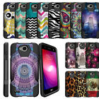 For LG Fiesta L63BL L64VL X Power 2 K10 Power X Charge Rugged Case w/Stand Cover