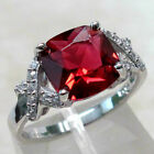 silver ruby - SPARKLING 4 CT RUBY 925 STERLING SILVER RING SIZE 5-10
