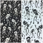 Groovy Dancing Skeletons 100% cotton fabric  sold per fat quarter or half metre