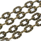 Wholesale Lots Gift Textured Link-Opened Chain 4x2.5mm 0.7mm thick