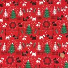 Red Christmas Scottie Dog 100% cotton Fabric sold per 1/2 metre/fat quarter