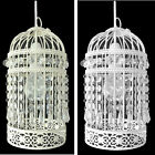 BIRDCAGE DESIGN - PENDANT LIGHT DECORATION MODERN CHANDELIER IN CREAM OR WHITE