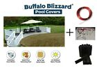Above Ground 15 YEAR WARRANTY Swimming Pool Winter Cover w/ Clips-(Choose Size)
