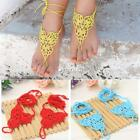 Fashion Women Barefoot Sandals Hand-made Crochet Knitted Beach Wedding DZ88