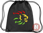 Rasta lion kit bag. Drawstring gym PE school - reggae dub rocksteady