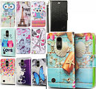 For LG Harmony M257 Premium Leather Wallet Case Pouch Flip Phone Cover Accessory