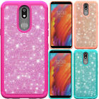 For LG Harmony SHINE Hybrid Hard Case Rubber Phone Cover Accessory +Screen Guard