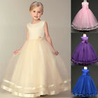Fashion Girl Dress Princess Pageant Wedding Birthday Party Bridesmaid Kids Dress