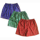 Mens Thai Silk Elephant Boxer Shorts 3 Pairs Blue, Green, Red Boxers Underwear
