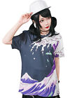 punk visual japan ukiyoe seawave Message in a bottle unisex graphic tee【J1M0264】