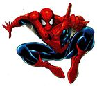 """5""""-8.5"""" SPIDER-MAN COMICS WALL STICKER GLOSSY BORDER CHARACTER CUT OUT"""