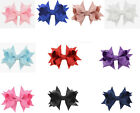 "2pcs 10pcs 3"" 8cm Hair 3D Bows Alligator Clips Grosgrain Ribbon Eco Girls Kids"