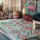 turquoise rug - nuLOOM Hand Made Bohemian Diamond Wool Blend Area Rug in Turquoise Blue