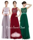 ALICE Lace Full Length Evening Bridesmaid Dress Various Colours UK Sizes 8 - 20