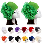 Muslim Women Hats Elegant Strench Pleated Flower  Bands Headband Turban Caps New