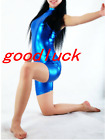 Metallic Royal Blue Bodysuit.One Piece Dance Catsuit .Cosplay Party Jumpsuit