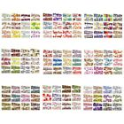 6 Sheets Mixed Designs Water Transfer Nail Art Decorations Stickers for Women