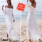 Women Summer Boho Long Maxi Dress Ladies Off Shoulder Casual Beach Party Dresses