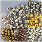 Внешний вид - 4x3mm Spacer Beads 60pcs Gold Silver Copper Brass Jewelry Findings Free Shipping