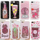Girl's Cute Bling Dynamic Liquid Glitter Soft Case Cover for iPhone 6S/7 8 Plus