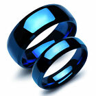 Stainless Steel Couples Blue Engagement Ring Wedding Band Men Women Jewelry Gift