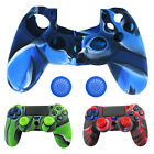 1x Silicone Cover Case Skin + 2x Joystick Caps for PlayStation 4 PS4 Controller