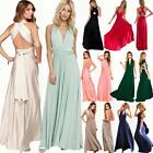 Women's Evening Dress Convertible Multi Way Wrap Bridesmaid Formal Long Sundress