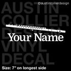 PERSONALIZED MARCHING BAND FLUTE Vinyl Decal Car Window Sticker - Custom