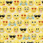 EMOTICONS EMIJOS KIDS NOVELTY QUILT SEWING FABRIC *Free Oz Post