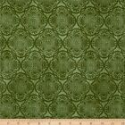 EXOTIC MEDALLION BLENDER GREEN QUILT SEWING FABRIC *Free Oz Post